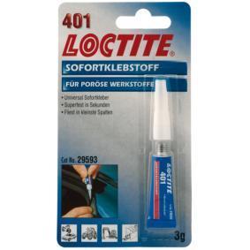 Adhesivo de caucho LOCTITE 195904 para auto (Tubo, Peso: 3g, incoloro, 3-10 sec.min)