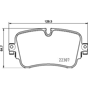 Brake Pad Set, disc brake Width: 129,3mm, Height: 64,7mm, Thickness: 17mm with OEM Number 4M0698451P