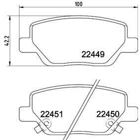 Bremsbelagsatz, Scheibenbremse Breite: 100mm, Höhe: 42,2mm, Dicke/Stärke: 17,2mm mit OEM-Nummer 7 736 771 7