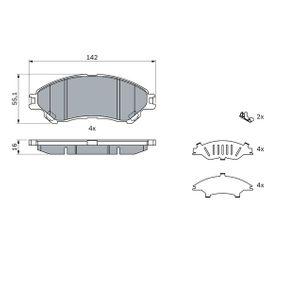 Bremsbelagsatz, Scheibenbremse mit OEM-Nummer 55810 61M 00