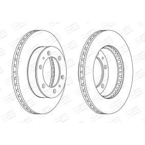 Disque de frein Épaisseur du disque de frein: 25mm, Nbre de trous: 6, Ø: 297mm avec OEM numéro 42431 60190