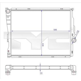 Kühler, Motorkühlung 703-0006-R 3 Limousine (E46) 320d 2.0 Bj 2001