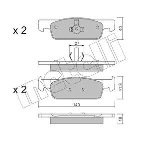 Brake Pad Set, disc brake 22-0975-3 Clio 4 (BH_) 1.5 dCi 90 MY 2015