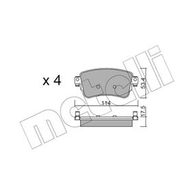Brake Pad Set, disc brake Thickness 1: 17,5mm with OEM Number SU001-A6136