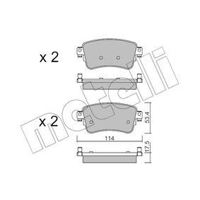 Комплект спирачно феродо, дискови спирачки Артикул № 22-1108-0 370,00BGN