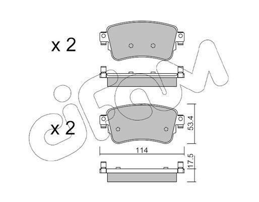 CIFAM  822-1108-0 Комплект спирачно феродо, дискови спирачки дебелина 1: 17,5мм