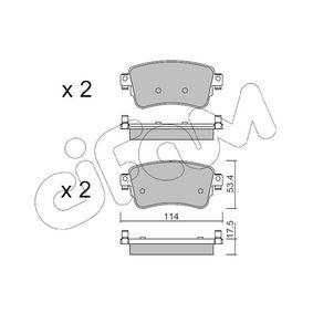 Комплект спирачно феродо, дискови спирачки дебелина 1: 17,5мм с ОЕМ-номер 16 17 936 880