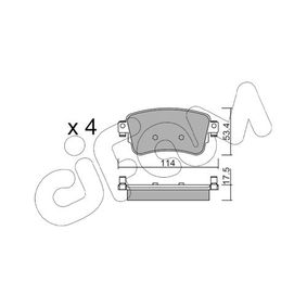 Brake Pad Set, disc brake Thickness 1: 17,5mm with OEM Number SU001 A6 136