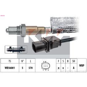 Lambdasonde Kabellänge: 570mm mit OEM-Nummer 06F906262AC