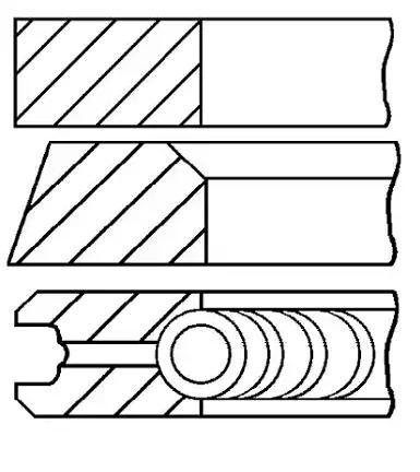 Kolbenringsatz 08-743600-00 GOETZE ENGINE 08-743600-00 in Original Qualität