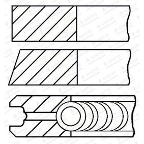 Kolbenringsatz mit OEM-Nummer 61 80 07 9