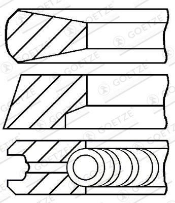 GOETZE ENGINE  08-783200-00 Kolbenringsatz
