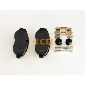 Bremsbelagsatz, Scheibenbremse Breite: 163,2mm, Höhe: 67,1mm, Dicke/Stärke: 20mm mit OEM-Nummer 2E0698151