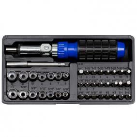 """Zestaw kluczy nasadowych Rozmiary czworokąta napędowego: 6,3 (1/4"""")mm (cal), Rozmiar klucza: 6,7,8,9,10,11,12 mm, 1/2,7/16,3/8,1/32, 5/16,1/4,3/16"""
