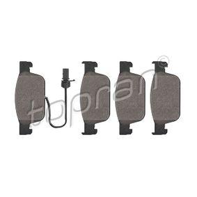 Bremsbelagsatz, Scheibenbremse Dicke/Stärke: 16,7mm mit OEM-Nummer 8W0 698 151AG