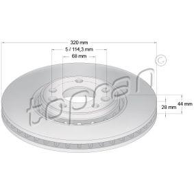 Bremsscheibe Bremsscheibendicke: 28mm, Felge: 5-loch, Ø: 320mm mit OEM-Nummer 4020 641 55R