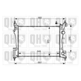 Kühler, Motorkühlung Netzmaße: 540-375-296 mit OEM-Nummer 1300 279