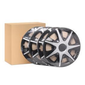 Hjulkapsler Mængdeenhed: sæt, sort/sølv RUNCZSR15