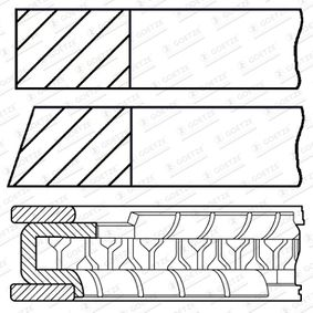 Kolbenringsatz mit OEM-Nummer 036 198 151 E