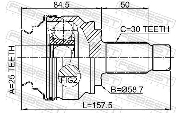 Antriebswellengelenk FEBEST 1910-E90R Bewertung