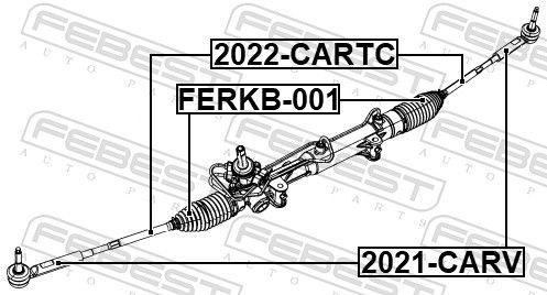 Rótula barra de acoplamiento FEBEST 2021-CARV evaluación