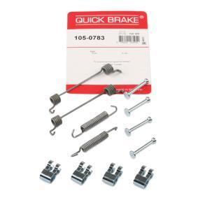 Accessory Kit, brake shoes 105-0783 PUNTO (188) 1.2 16V 80 MY 2004