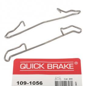 Accessory Kit, disc brake pads 109-1056 PUNTO (188) 1.2 16V 80 MY 2002