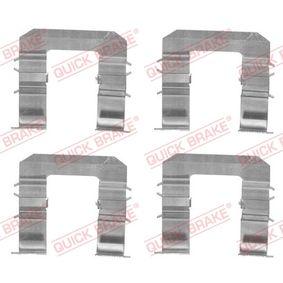 Accessory Kit, disc brake pads 109-1735 PUNTO (188) 1.2 16V 80 MY 2000