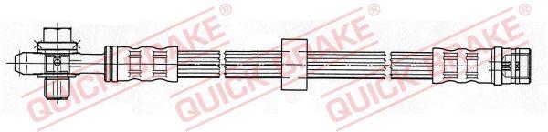 QUICK BRAKE  50.104X Bremsschlauch Länge: 430mm, Gewindemaß 1: M10x1, Gewindemaß 2: M10x1,5
