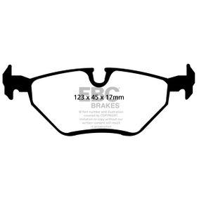 Bremsbelagsatz, Scheibenbremse mit OEM-Nummer 34211164501