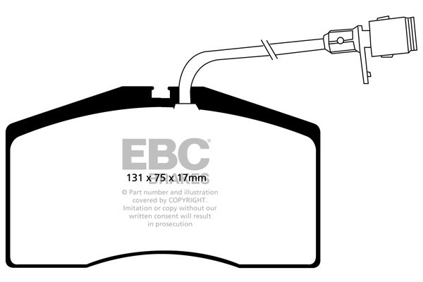 EBC Brakes  DP41327R Bremsbelagsatz, Scheibenbremse