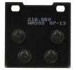 OEM Brake Pad Set, disc brake S3019-AM300 from NHC