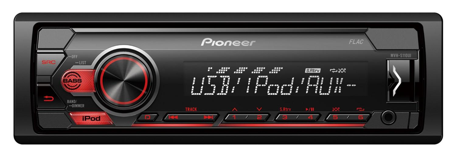 PIONEER  MVH-S110UI Stereot Teho: 4x50W