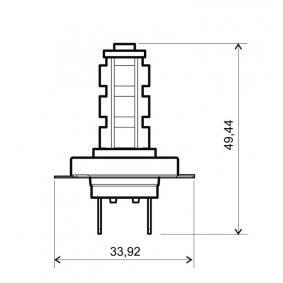 Bulb, spotlight H7, 12V 24 651 0615