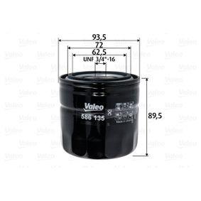 Ölfilter mit OEM-Nummer 88 03 34