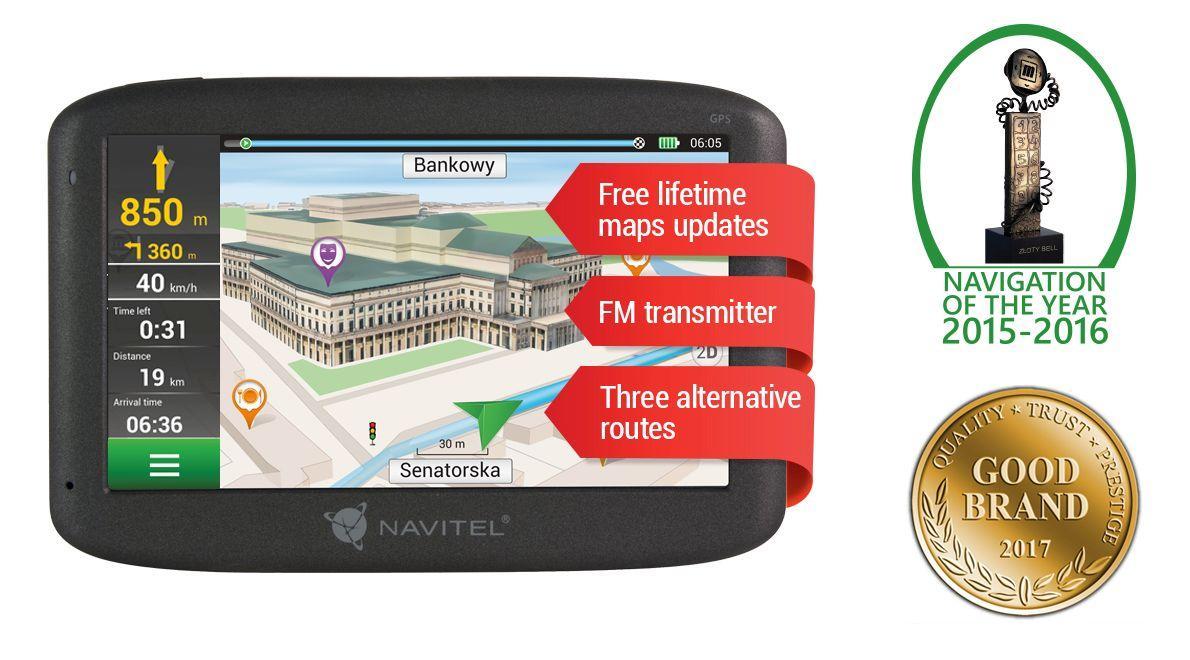 NAVE500 NAVITEL tillverkarens upp till - 27% rabatt!