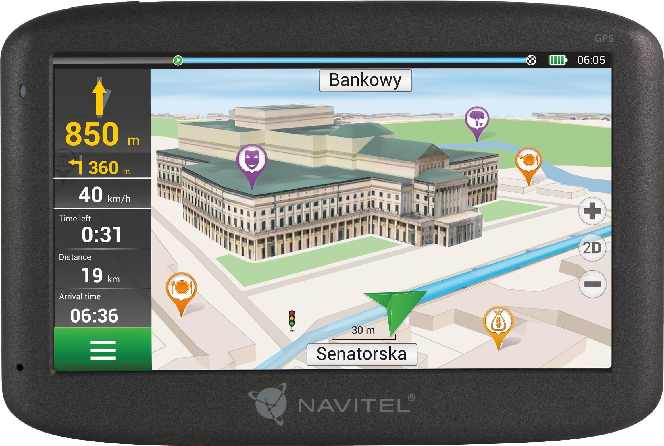 Navigationssystem NAVMS400 NAVITEL NAVMS400 original kvalite