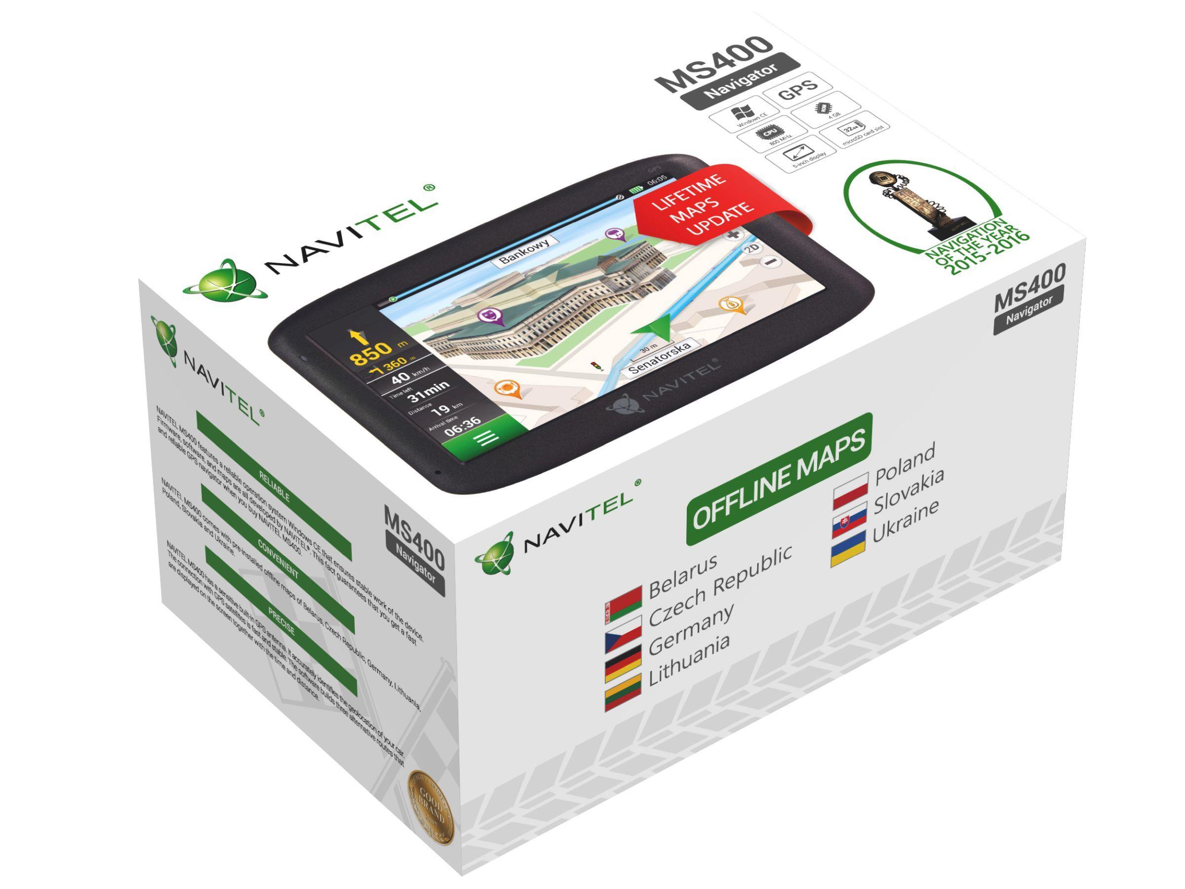 Navigační systém NAVITEL NAVMS400 odborné znalosti