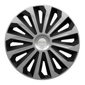 Hjulkapsler Mængdeenhed: sæt, sort/sølv 009132