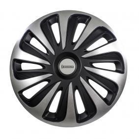 Hjulkapsler Mængdeenhed: sæt, sort/sølv 009122