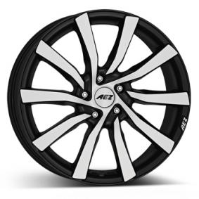 alloy wheel AEZ Reef matt black front polished 17 inches 5x114.3 PCD ET38 ARE70KP38