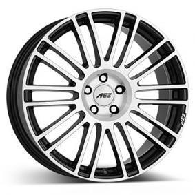 alloy wheel AEZ Strike black front polished 18 inches 5x127 PCD ET45 ASRGCBP45