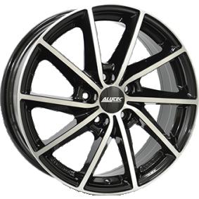 алуминиеви джант ALUTEC Singa mattschwarz Front poliert 16 инча 5x114.3 PCD ET50 SIN65650L13-1