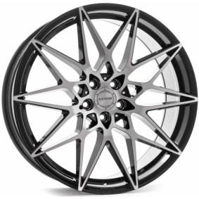 alloy wheel AXXION AX9 mattschwarz Front poliert 20 inches 5x112 PCD ET40 15043