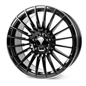 alloy wheel AXXION AX5 hyper silber schwarz Horn poliert 19 inches 5x112 PCD ET25 11578