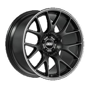 Alufelge BBS CH-R MattSchwarz / Poliert 18 Zoll 5x112 PCD ET38 0360442#