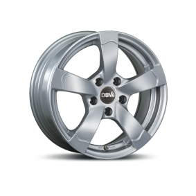 lichtmetalen velg DBV Torino II briljant zilver geschilderd 17 inches 5x112 PCD ET48 33784