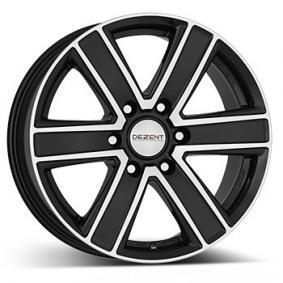 alloy wheel DEZENT TJ dark mattschwarz Front poliert 16 inches 6x114.3 PCD ET45 TTJPKBP45E