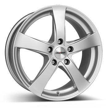 DEZENT RE briljant zilver geschilderd lichtmetalen velg 6.5xR16 PCD 5x112 ET50 d57.10