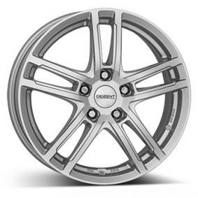 alloy wheel DEZENT TZ brilliant silver painted 15 inches 5x100 PCD ET38 TTZK6SA38E